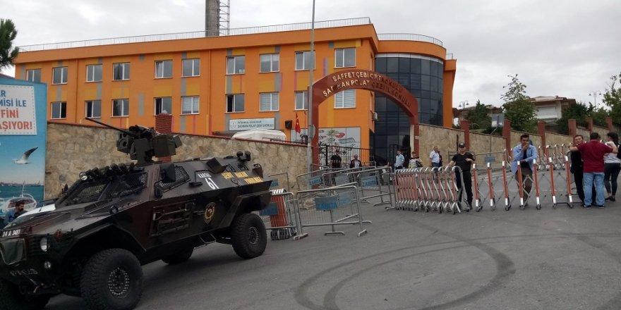 Erdoğan'ın oy kullanacağı okulda yoğun güvenlik önlemi