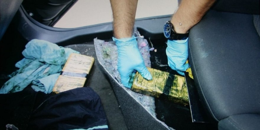 Lüks araçta 40 kilogram eroin ele geçirildi