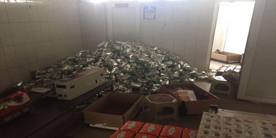 720 kilogram kaçak çay ele geçirildi