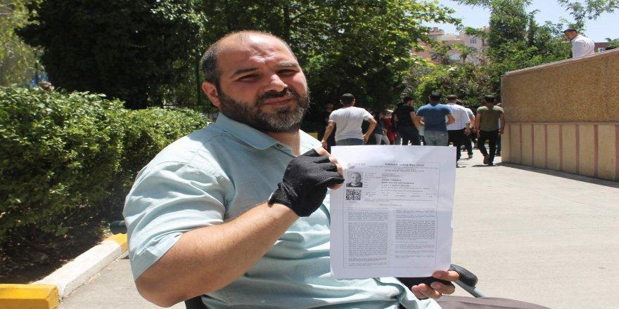 Engelli vatandaştan sınava alınmadığı iddiası