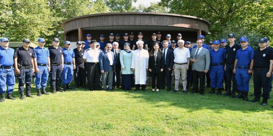 Erbaş, jandarma ve polislerle buluştu