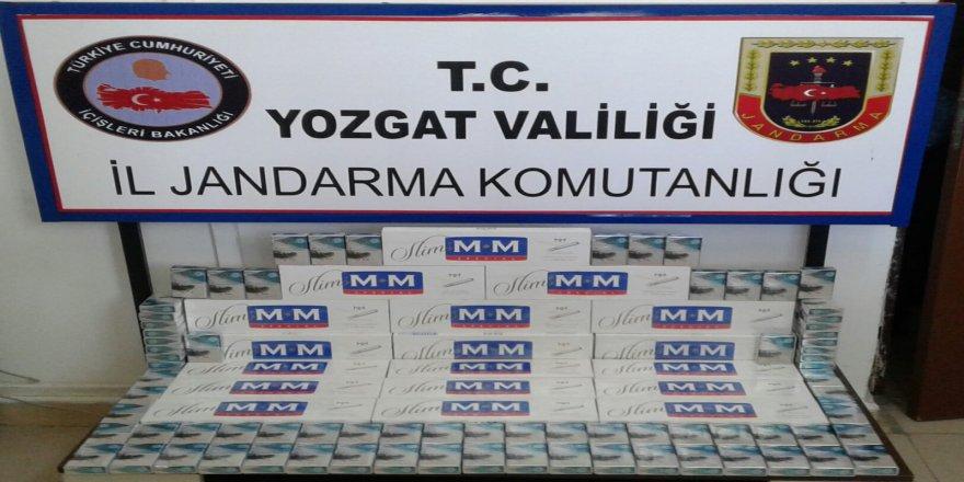 330 paket kaçak sigara ele geçirildi