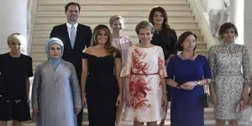 Emine Erdoğan, NATO Zirvesi'ne katılan lider eşleri ile bir araya geldi