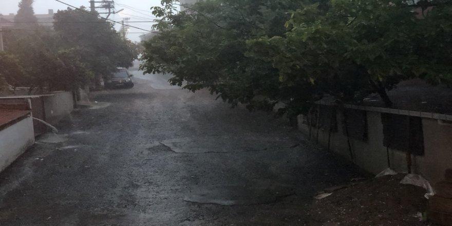 Çorlu'da dolu yağışı