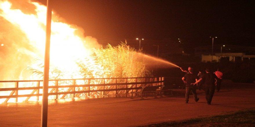 Korkutan yangın !