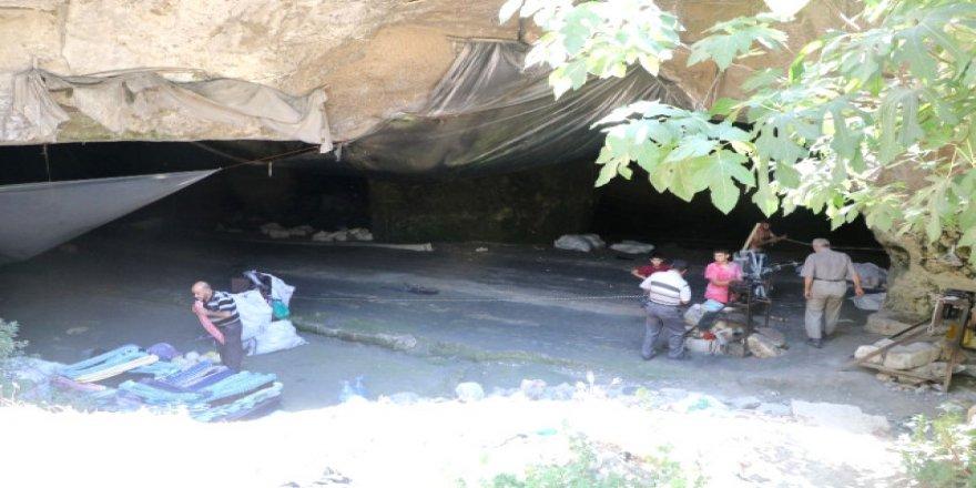 'Kendir' mağaralara girdi