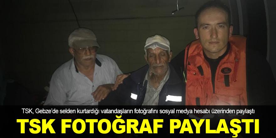 TSK, Gebze'deki fotoğrafları paylaştı