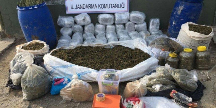 59 kilogram esrar ele geçirildi