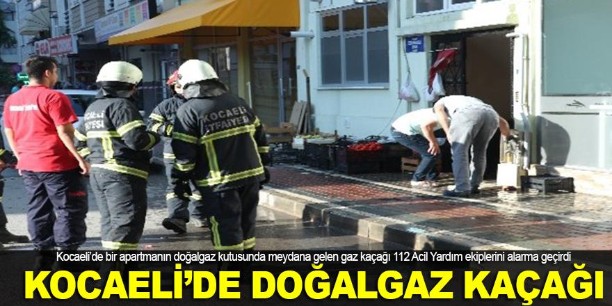 Kocaeli'de doğalgaz kaçağı