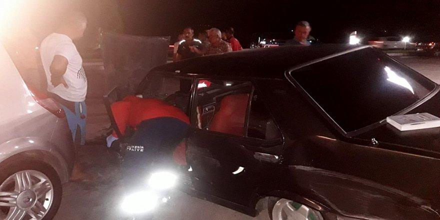 Benzin istasyonunda kaza