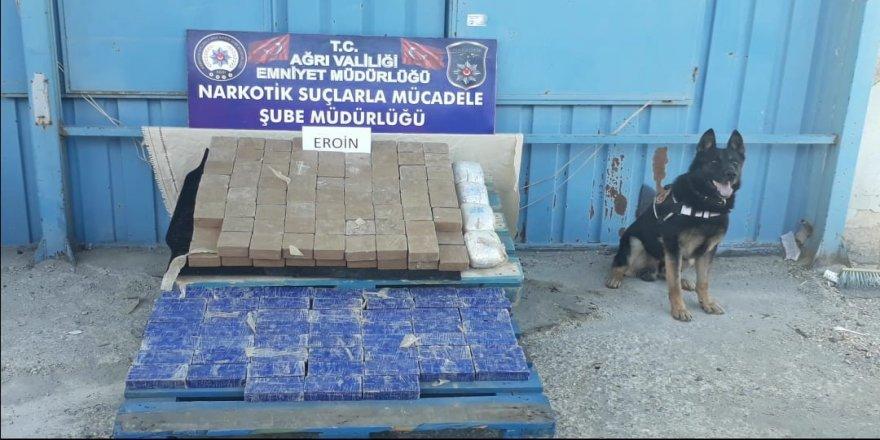 Ağrı'da 102 kilo 372 gram eroin ele geçirildi