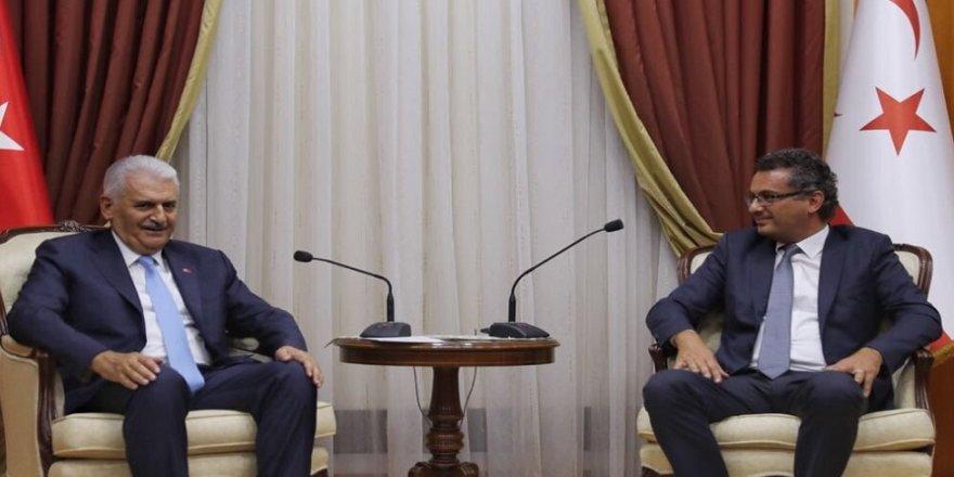 Yıldırım, KKTC Başbakanı ile görüştü