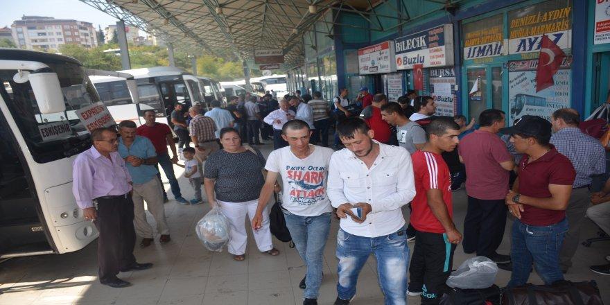 Otogarda Kurban Bayram'ı yoğunluğu başladı