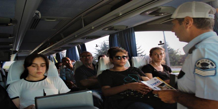 Bayram öncesi yolcu otobüslerine şok denetim