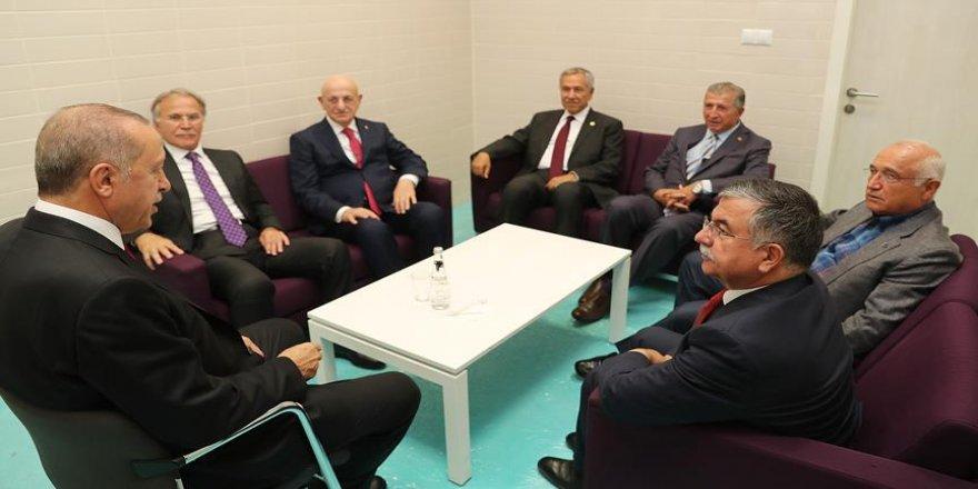 Erdoğan eski TBMM Başkanlarını kabul etti