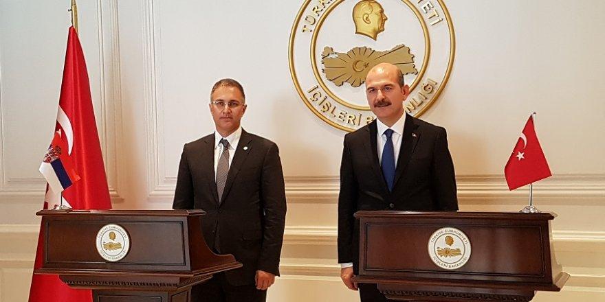 Bakan Soylu, Sırbistanlı mevkidaşı kabul etti