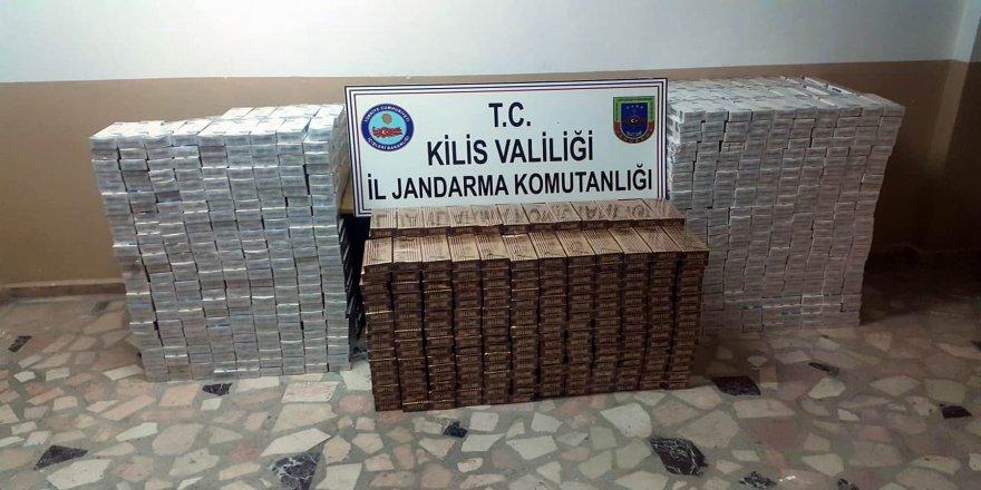 18 bin paket kaçak sigara yakalandı