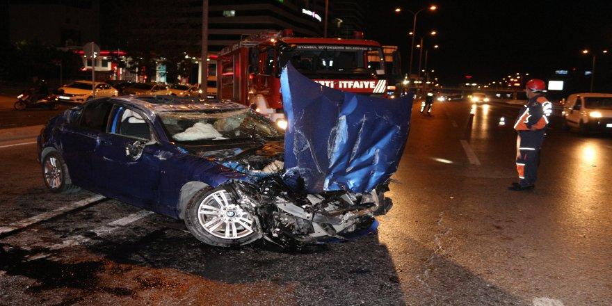 E-5'te takla atan araçtaki kişi hayatını kaybetti