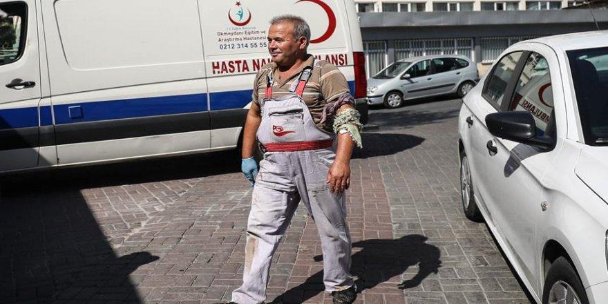 Bin 226 'acemi kasap' kendini yaraladı
