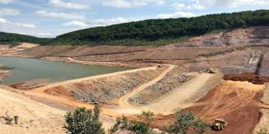 Gebze kovalıdere Göleti inşaatı sürüyor