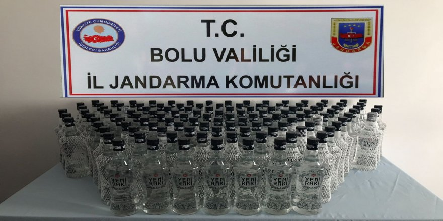 120 litre kaçak alkol ele geçirildi