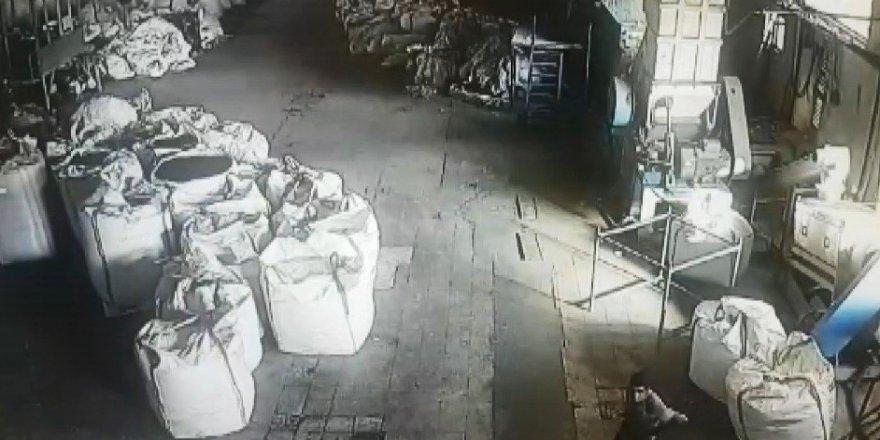 Aynı fabrikaya ikinci kez girince yakalandılar