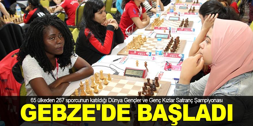 Satranç Şampiyonası, Gebze'de başladı