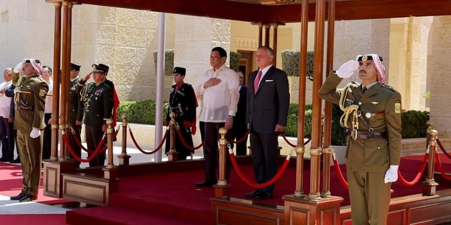 Ürdün Kralı 2. Abdullah, Duterte ile görüştü