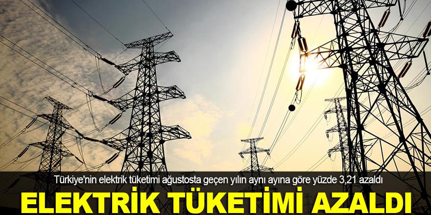 Elektrik tüketimi ağustosta azaldı