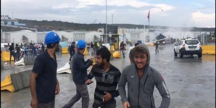 Üçüncü havalimanında işçilerden eylem