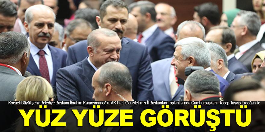 Karaosmanoğlu, Erdoğan ile yüz yüze