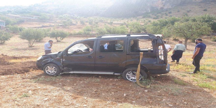 Güvenlik korucuları kaza yaptı: 4 yaralı