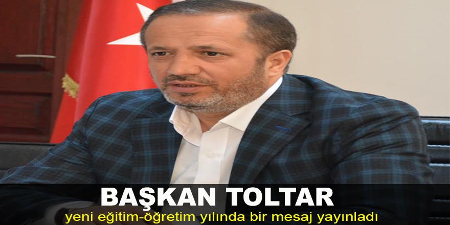 Başkan Toltar'dan yeni eğitim-öğretim yılı mesajı