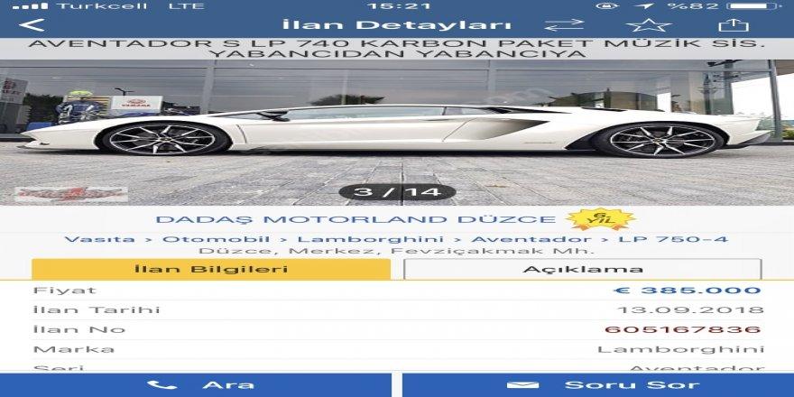 Kenan Sofuoğlu lüks aracını satışa çıkardı