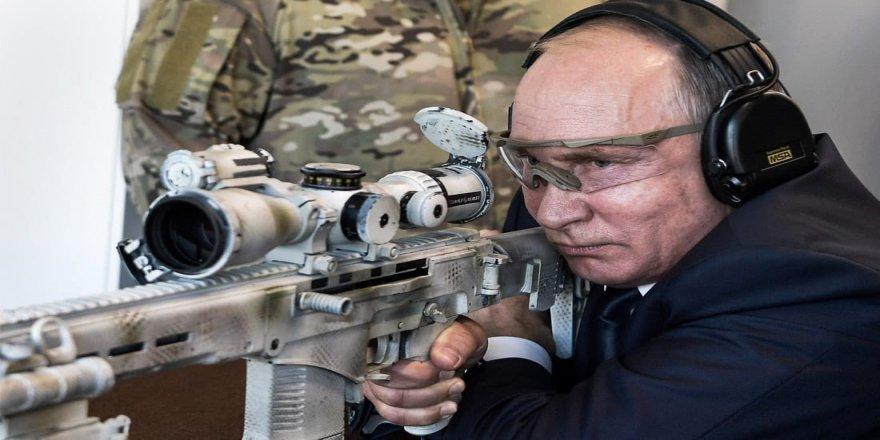 Putin, 600 metreden hedefi vurdu
