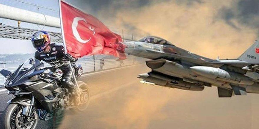 Kenan Sofuoğlu F-16 ile yarıştı!