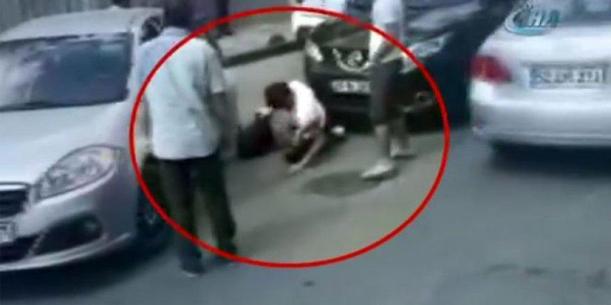 Kadın sürücü zincirle saldırdı