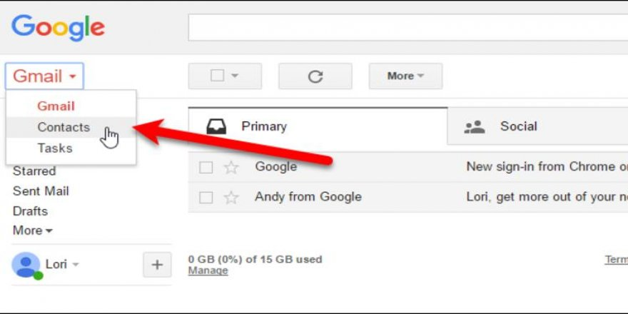Gmail rehber yedekleme nasıl yapılır?