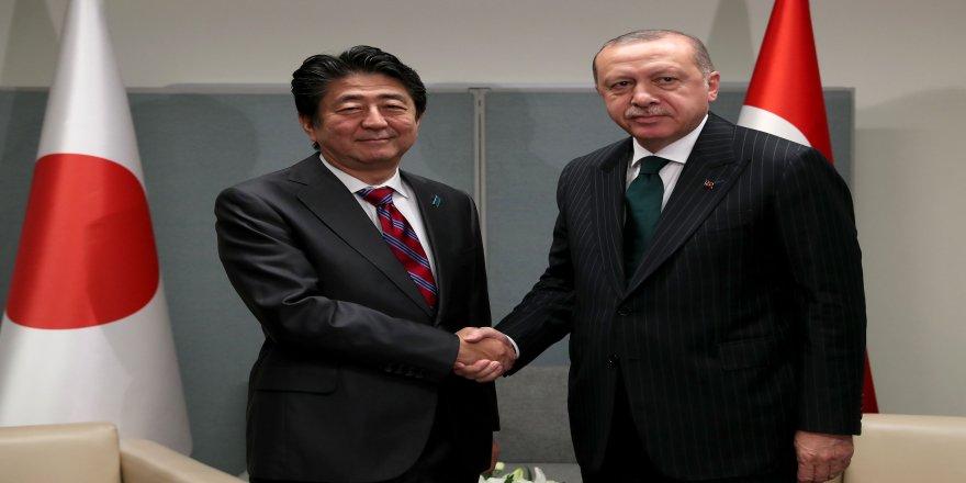 Cumhurbaşkanı Erdoğan, Şinzo Abe'yi kabul etti
