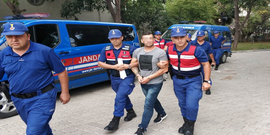 Jandarmaya tehdit ve yaralamaya tutuklama