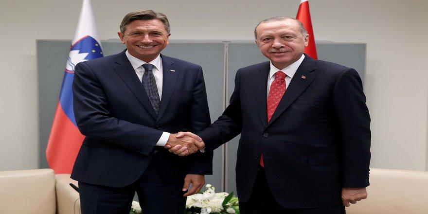 Cumhurbaşkanı Erdoğan, Slovenya Cumhurbaşkanı ile görüştü