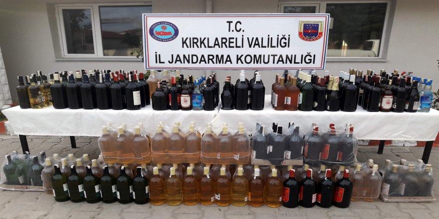 323 litre sahte içki ele geçirildi
