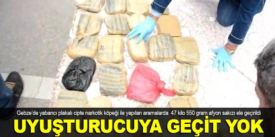 Gebze'de uyuşturucu operasyonu