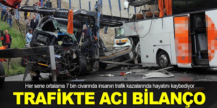 Trafikte acı bilanço
