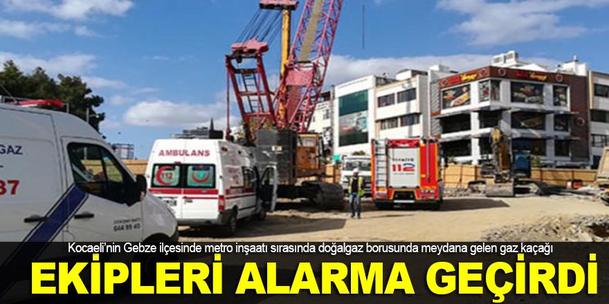 Gebze'de ekipleri alarma geçiren olay!