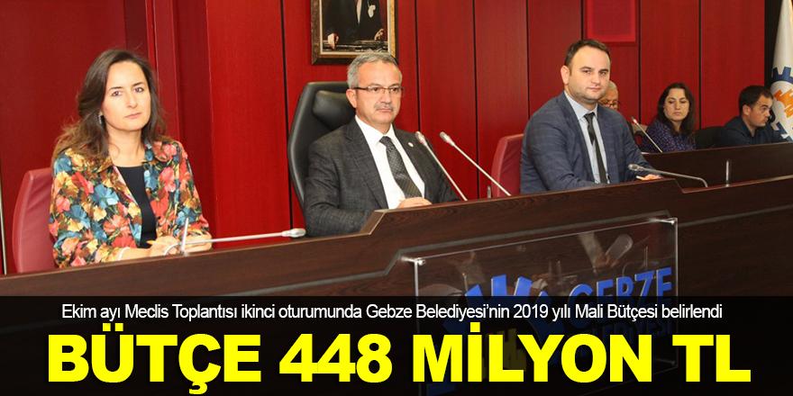 2019 yılı bütçesi 448 milyon TL