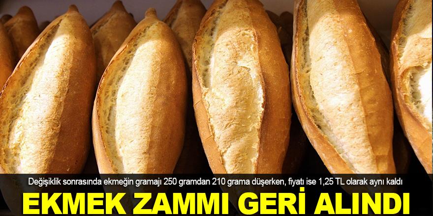 Ekmek zammı geri alındı