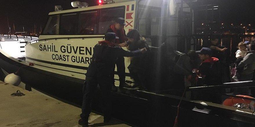 Batan lastik bottaki 11 düzensiz göçmen kurtarıldı