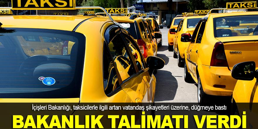 İçişleri Bakanlığı, taksici sorununa el koydu