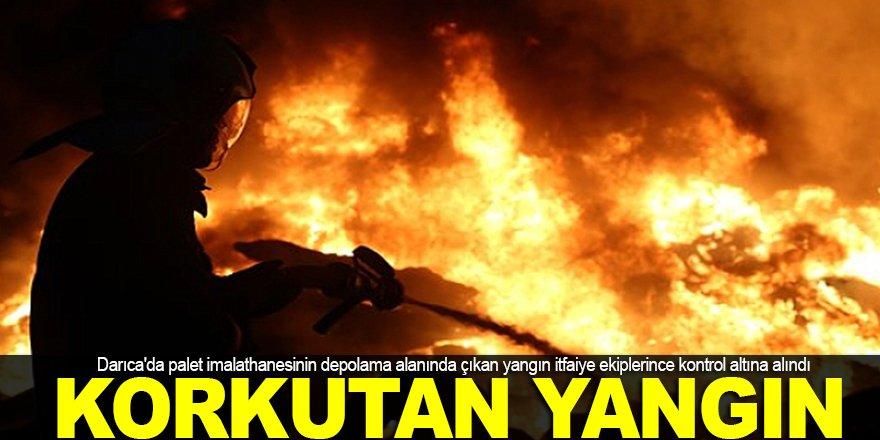 Darıca'da korkutan yangın